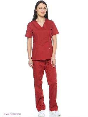 Блузка медицинская Med Fashion Lab. Цвет: бордовый