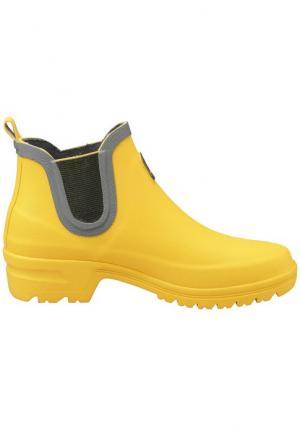 Резиновые сапоги Heine Home. Цвет: желтый, коралловый, синий