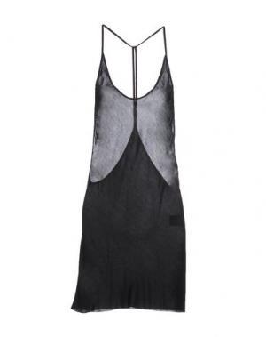 Платье до колена ANN DEMEULEMEESTER. Цвет: черный