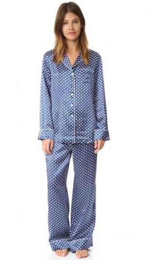 Пижама с принтом Lila Anais Atlantic Olivia von Halle. Цвет: голубой