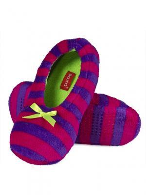 Тапки женские SOXO. Цвет: малиновый, фиолетовый