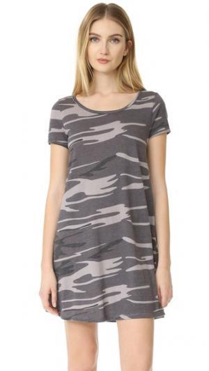 Платье Connor с камуфляжным рисунком Z Supply. Цвет: черный камуфляжный