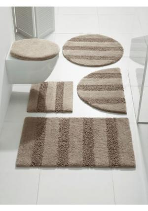 Коврик для ванной Heine Home. Цвет: белый, серебристо-серый, серо-коричневый