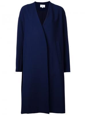 Однобортное пальто Enföld. Цвет: синий