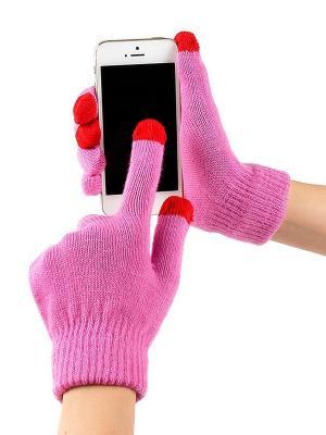 Перчатки GREZZO. Цвет: бледно-розовый, лиловый, сиреневый