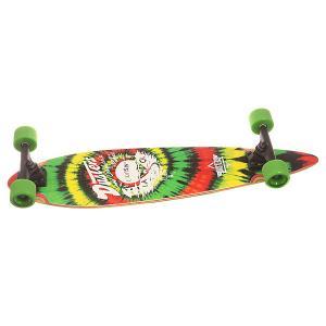 Скейт круизер  Cruisin Longboards Rasta 8.25 x 34 (86.3 см) Dusters. Цвет: зеленый,желтый,красный