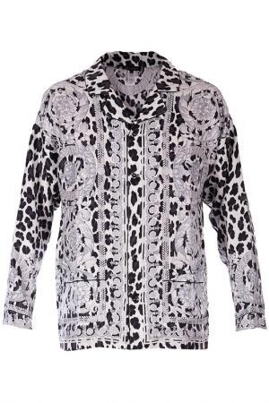 Пижама Versace. Цвет: черно-белый