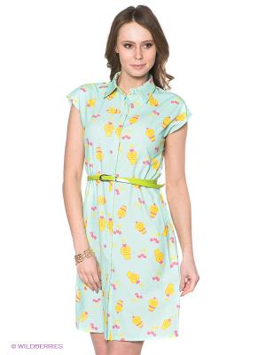 Платье Neohit. Цвет: светло-зеленый, желтый