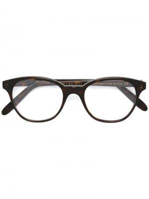 Очки в квадратной оправе Cutler & Gross. Цвет: коричневый