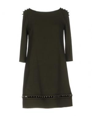 Короткое платье AQUILANO-RIMONDI. Цвет: зеленый-милитари