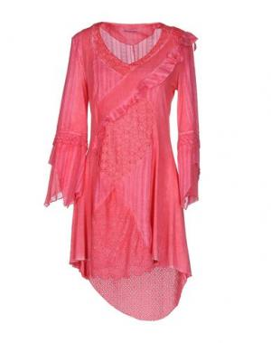 Короткое платье ANGELA MELE MILANO. Цвет: коралловый