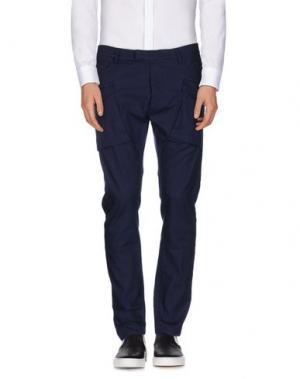 Повседневные брюки MESSAGERIE. Цвет: темно-синий