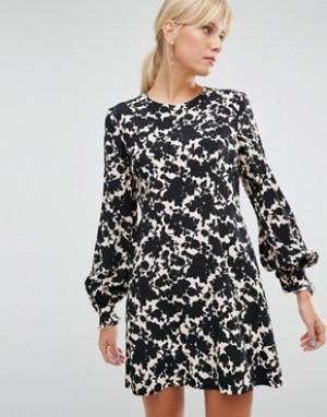 SPORTMAX CODE Платье с цветочным принтом. Цвет: розовый