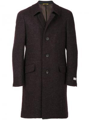 Однобортное приталенное пальто Canali. Цвет: красный