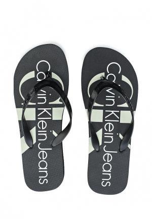 Сланцы Calvin Klein Jeans. Цвет: черный