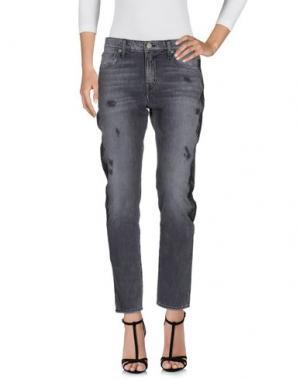Джинсовые брюки SANDRINE ROSE. Цвет: стальной серый