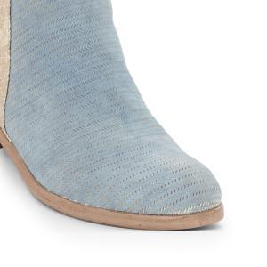 Ботильоны кожаные Nicole из двух материалов MJUS. Цвет: золотистый/синий