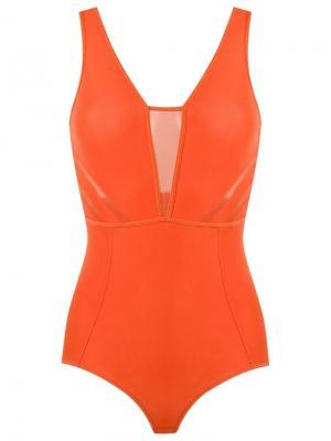 Bodysuit Giuliana Romanno. Цвет: жёлтый и оранжевый