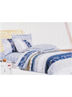 Комплект постельного белья 6 предметов HAMRAN. Цвет: белый, голубой, синий