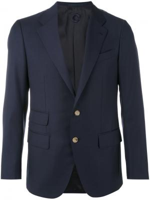 Классический пиджак Caruso. Цвет: чёрный