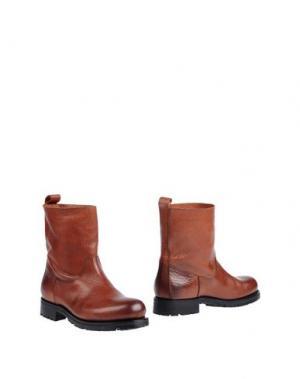 Полусапоги и высокие ботинки KUDETÀ. Цвет: коричневый
