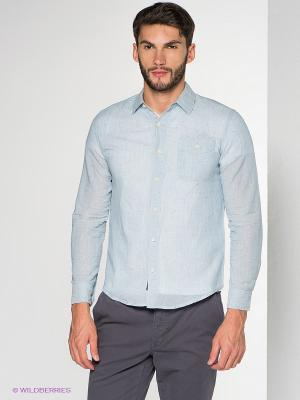Рубашка LEE COOPER. Цвет: голубой