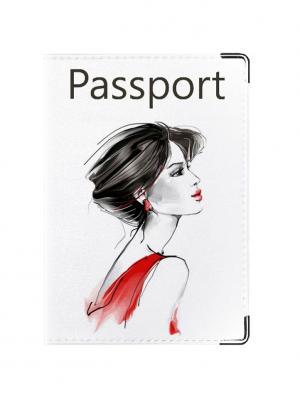 Обложка для паспорта Lady in Red Tina Bolotina. Цвет: черный, красный, белый