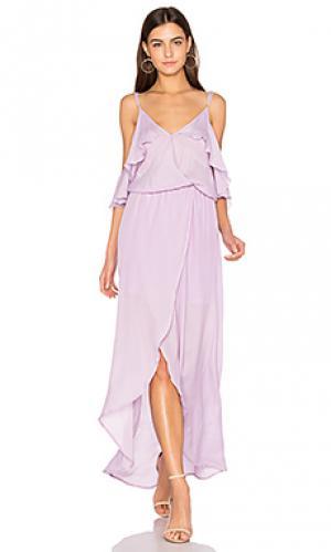 Rockefeller solid maxi dress Karina Grimaldi. Цвет: бледно-лиловый