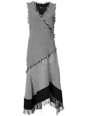 Твидовое расклешенное платье Derek Lam. Цвет: чёрный