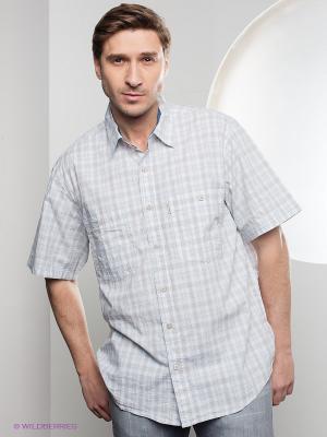 Рубашка Westrenger. Цвет: светло-серый, светло-бежевый