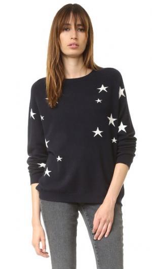 Кашемировый свитер с напуском Star Chinti and Parker. Цвет: темно-синий/кремовый