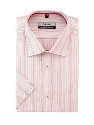 Рубашки GREG. Цвет: оранжевый, белый