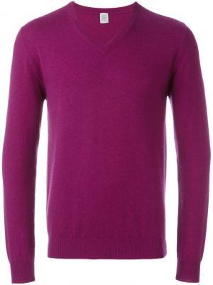 Свитер c V-образным вырезом Eleventy. Цвет: розовый и фиолетовый