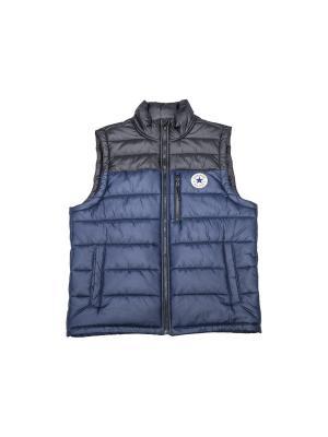 Жилет Core Poly Fill Vest Converse. Цвет: темно-синий