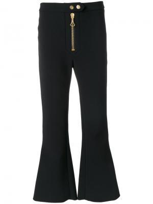 Укороченные брюки на молнии Ellery. Цвет: чёрный