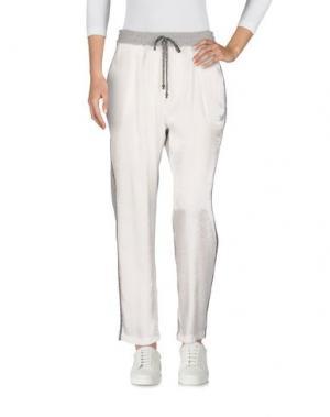 Повседневные брюки YPNO. Цвет: белый