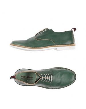 Обувь на шнурках WALLY WALKER. Цвет: зеленый
