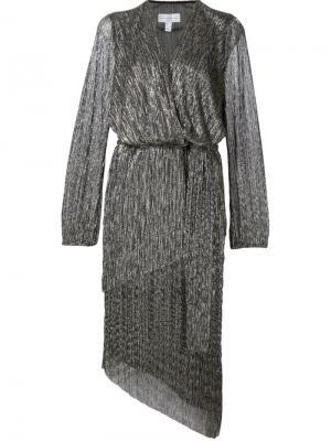 Платье Paparazzi с драпировкой Rebecca Vallance. Цвет: чёрный