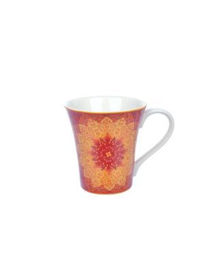 Кружка Гуджарат Elff Ceramics. Цвет: красный, желтый, белый