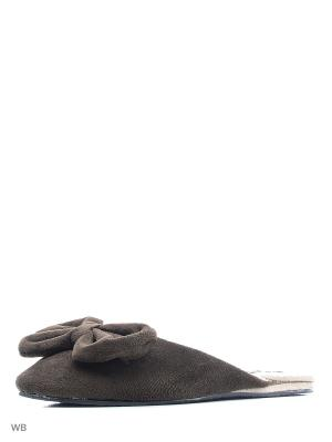 Тапочки Kapprise. Цвет: коричневый
