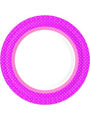 Тарелки бумажные 22 см BBQ HOT PINK DUNI. Цвет: розовый