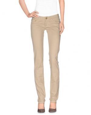 Повседневные брюки MISS BORSALINO. Цвет: песочный