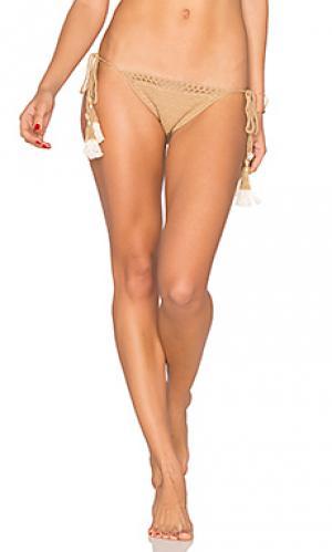 Crochet tie side bikini bottom SHE MADE ME. Цвет: беж
