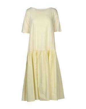Платье до колена A.B APUNTOB. Цвет: слоновая кость