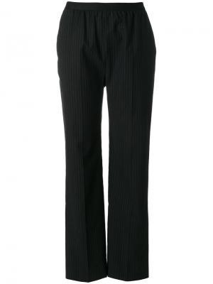 Прямые брюки в тонкую полоску Maison Margiela. Цвет: чёрный