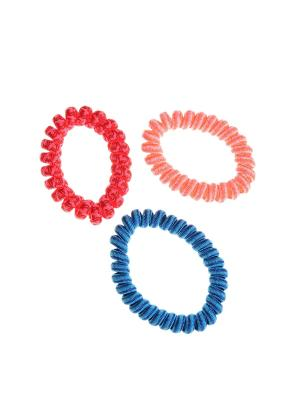 Резинка для волос (3 шт.) Happy Charms Family. Цвет: красный, оранжевый, синий