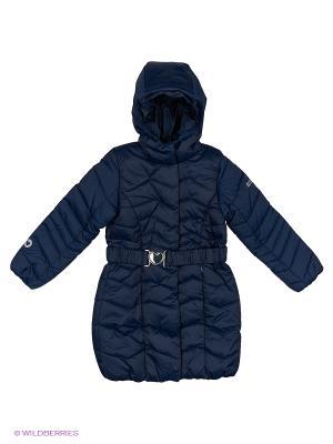 Пальто S`Cool. Цвет: темно-синий