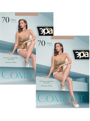 Колготки Comfort 70, 2 пары ЭРА.. Цвет: бронзовый