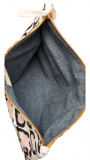 Haircalf Fold Over Clutch Clare V.