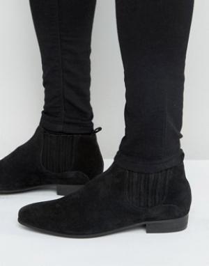 Hudson London Замшевые ботинки челси Zelus. Цвет: черный